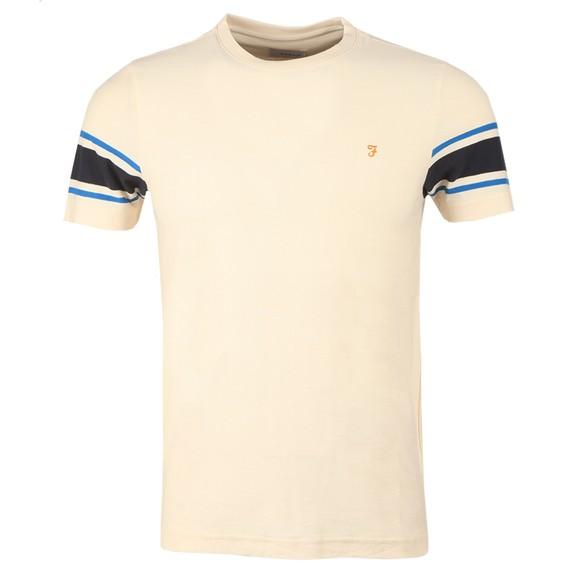 Farah Mens Off-White Spielberg T Shirt