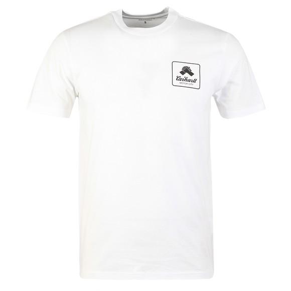 Carhartt WIP Mens White Peace State T-Shirt