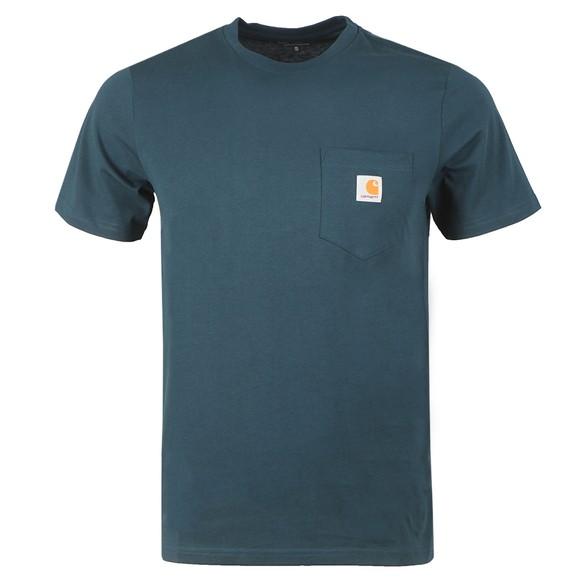 Carhartt WIP Mens Green Pocket Crew T-Shirt