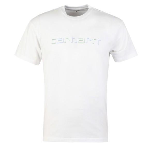 Carhartt WIP Mens White Shadow Script T Shirt