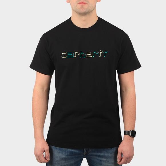 Carhartt WIP Mens Black Shadow Script T Shirt
