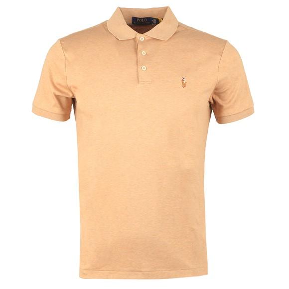 Polo Ralph Lauren Mens Brown Custom Slim Fit Pima Polo Shirt