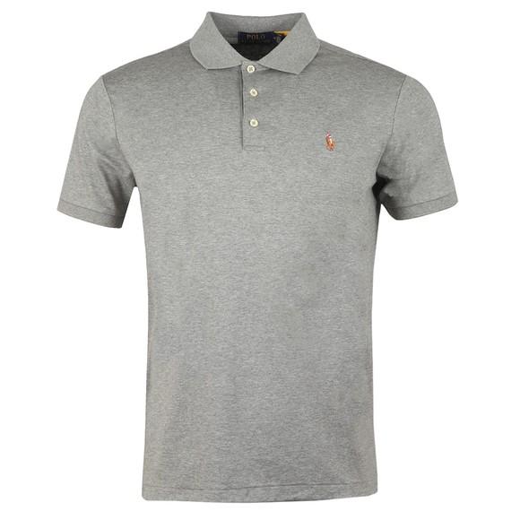 Polo Ralph Lauren Mens Grey Custom Slim Fit Pima Polo Shirt