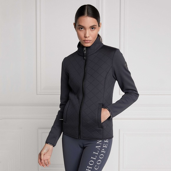 Holland Cooper Womens Grey The Coach Jacket main image