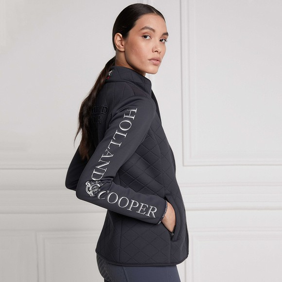 Holland Cooper Womens Grey The Coach Jacket