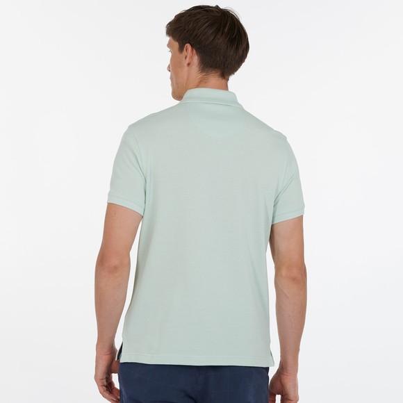 Barbour Lifestyle Mens Green Tartan Pique Polo Shirt main image