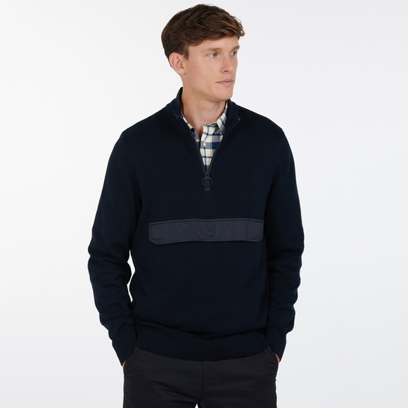 Barbour Lifestyle Mens Blue Cartfile Half Zip Jumper