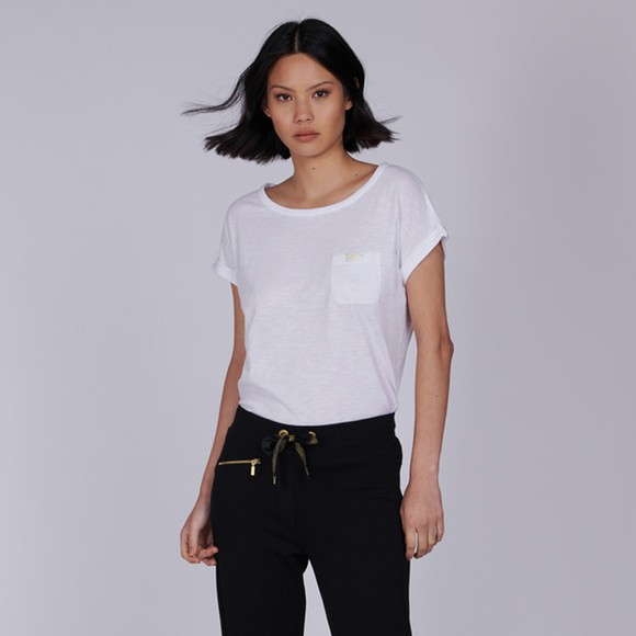Barbour International Womens White Qualify Top main image