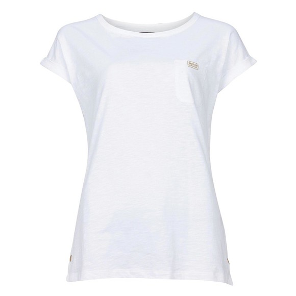 Barbour International Womens White Qualify Top