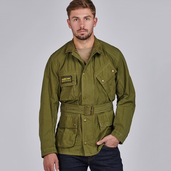 Barbour International Mens Green Summer Wash A7 Casual Jacket