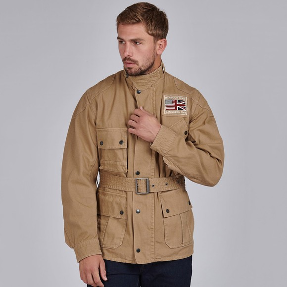 Barbour Int. Steve McQueen Mens Beige Washed Southwest Casual Jacket