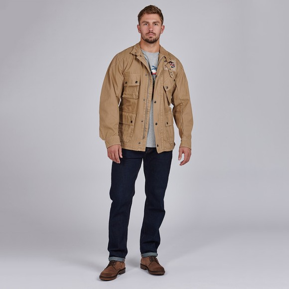 Barbour Int. Steve McQueen Mens Beige Washed Southwest Casual Jacket main image