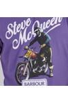 Barbour Int. Steve McQueen Mens Purple Enduro T-Shirt
