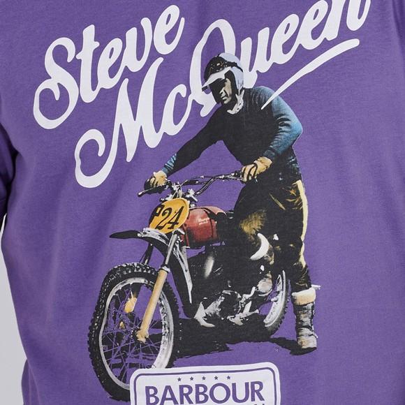 Barbour Int. Steve McQueen Mens Purple Enduro T-Shirt main image