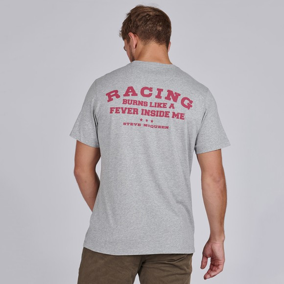 Barbour Int. Steve McQueen Mens Grey Enduro T-Shirt main image