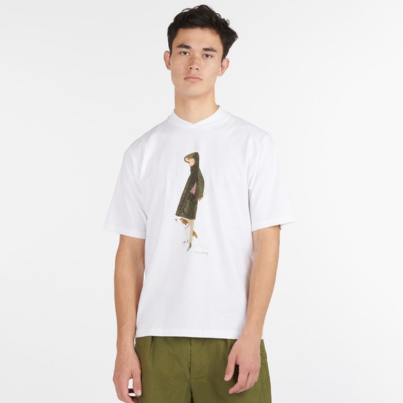 Barbour Lifestyle Mens White X Mr Slowboy Walk T Shirt main image