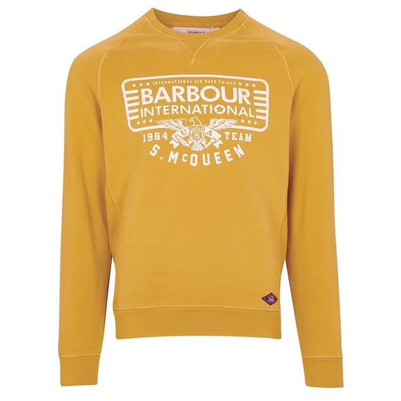 Barbour Int. Steve McQueen Mens Yellow 1964 Team Sweatshirt