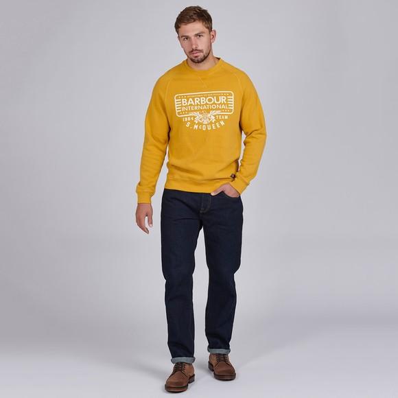 Barbour Int. Steve McQueen Mens Yellow 1964 Team Sweatshirt main image