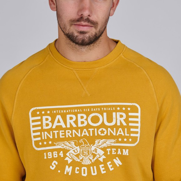 Barbour Int. Steve McQueen Mens Yellow 1964 Team Sweatshirt main image
