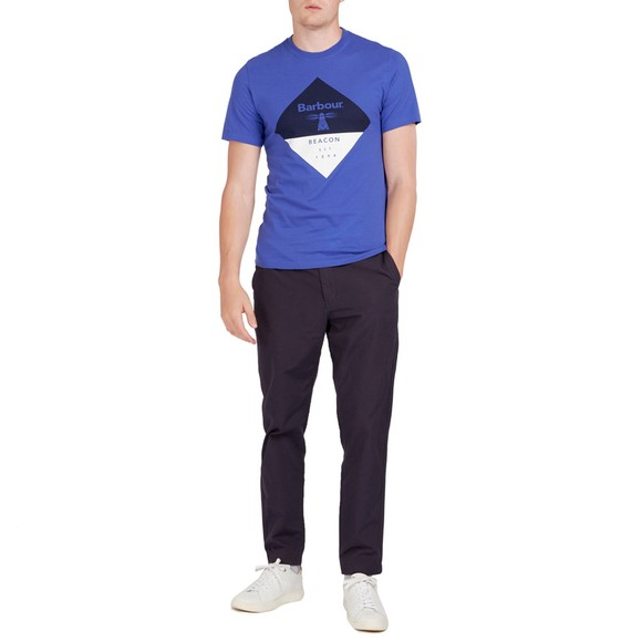 Barbour Beacon Mens Blue Diamond T-Shirt