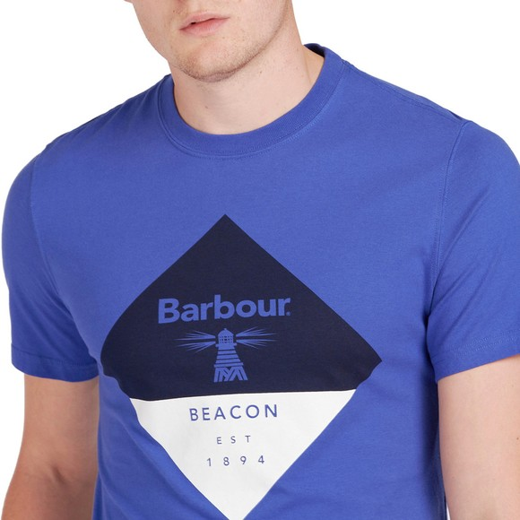 Barbour Beacon Mens Blue Diamond T-Shirt main image