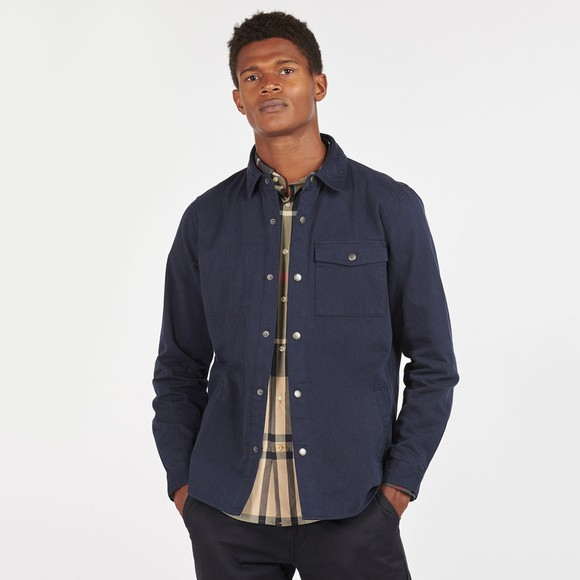 Barbour Lifestyle Mens Blue Mortan Overshirt