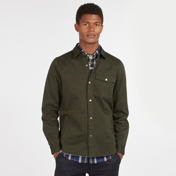 Barbour Lifestyle Mens Green Mortan Overshirt