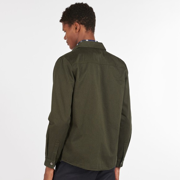 Barbour Lifestyle Mens Green Mortan Overshirt main image