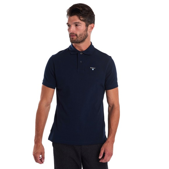 Barbour Lifestyle Mens Blue Tartan Pique Polo Shirt