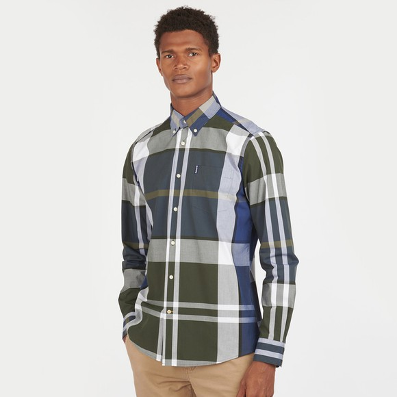 Barbour Lifestyle Mens Green Tartan 12 Tailored Shirt
