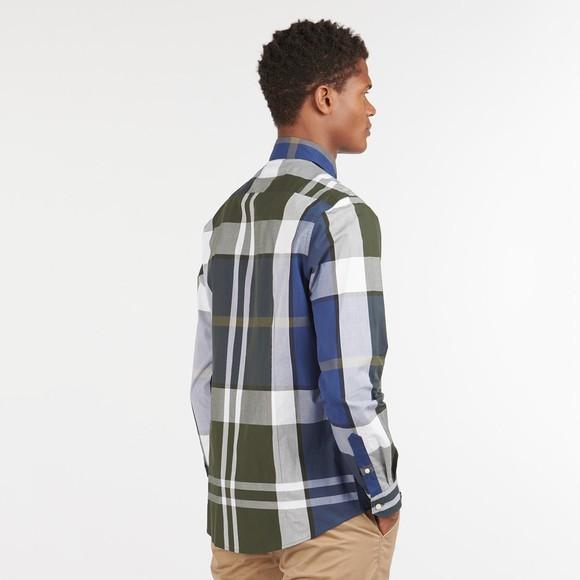 Barbour Lifestyle Mens Green Tartan 12 Tailored Shirt main image