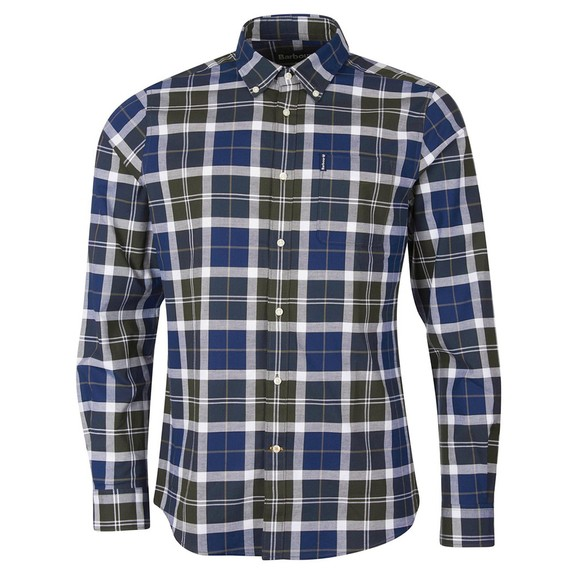 Barbour Lifestyle Mens Green Tartan 11 Tailored Shirt