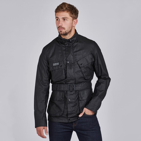 Barbour International Mens Black Lightweight SL Wax Jacket