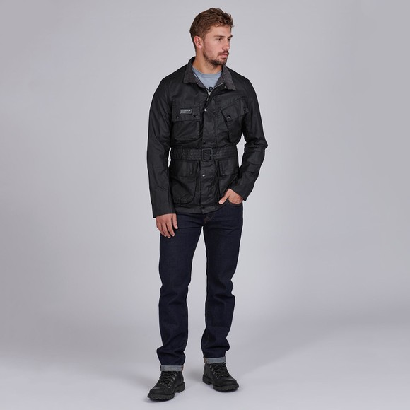 Barbour International Mens Black Lightweight SL Wax Jacket main image