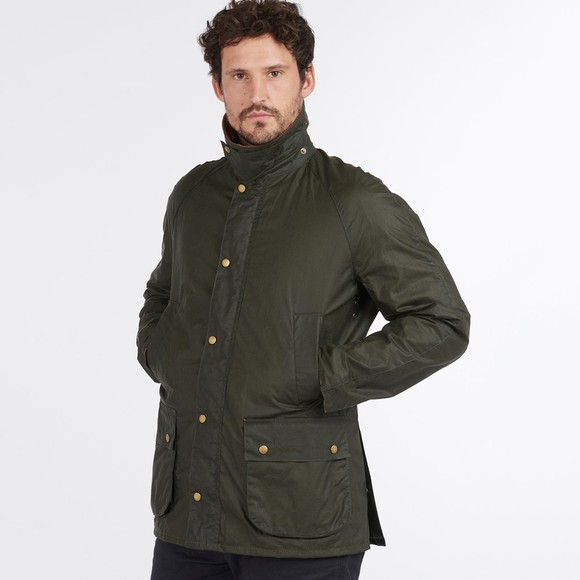 Barbour Lifestyle Mens Green Lightweight Ashby Wax Jacket