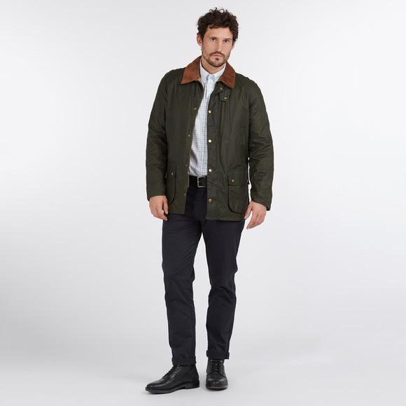 Barbour Lifestyle Mens Green Lightweight Ashby Wax Jacket main image