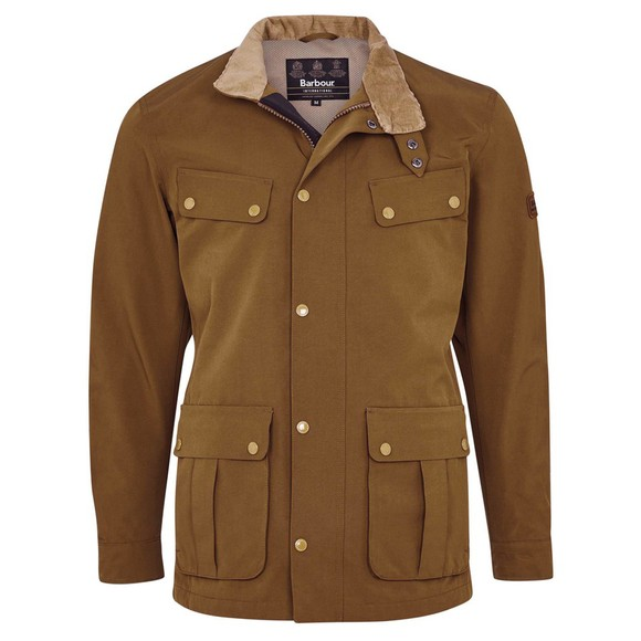 Barbour International Mens Beige Summer Waterproof Duke Jacket