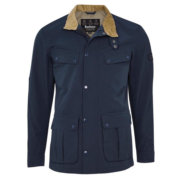Barbour International Mens Blue Summer Waterproof Duke Jacket