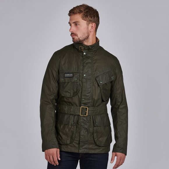 Barbour International Mens Green Lightweight SL Wax Jacket