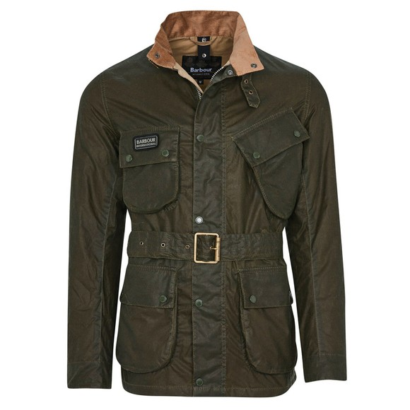 Barbour International Mens Green Lightweight SL Wax Jacket main image