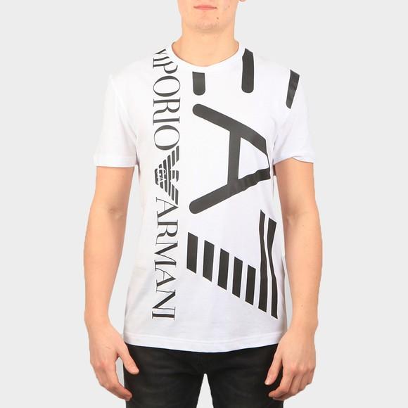EA7 Emporio Armani Mens White 3KPT07 Large Logo T Shirt
