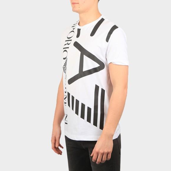 EA7 Emporio Armani Mens White 3KPT07 Large Logo T Shirt main image