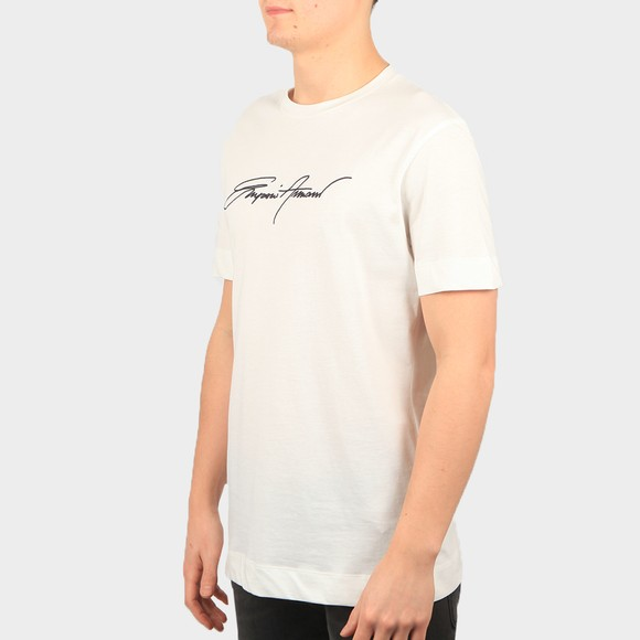 Emporio Armani Mens Off-White Signature T Shirt main image