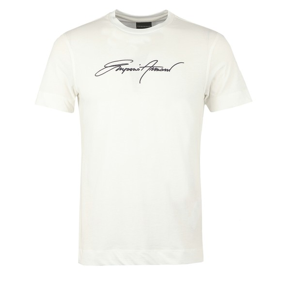Emporio Armani Mens Off-White Signature T Shirt