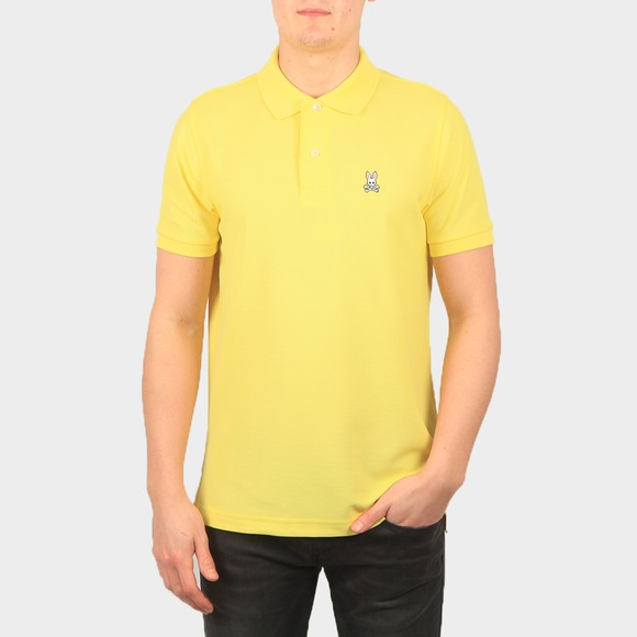 Psycho Bunny Mens Yellow Classic Polo Shirt
