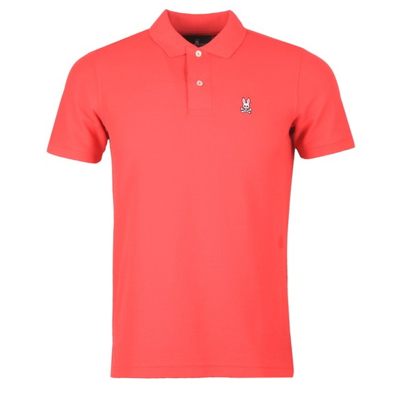 Psycho Bunny Mens Pink Classic Polo Shirt