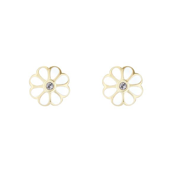 Ted Baker Womens White Daraeh Daisy Stud Earrings main image