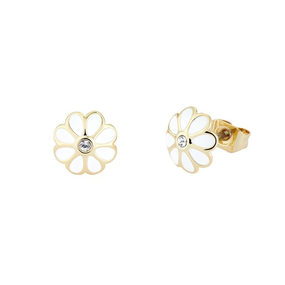 Ted Baker Womens White Daraeh Daisy Stud Earrings