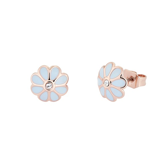 Ted Baker Womens Pink Daraeh Daisy Stud Earrings