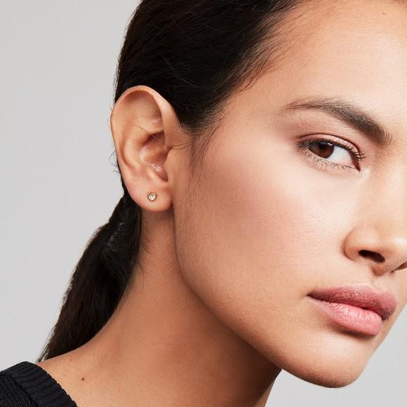 Ted Baker Womens Gold Neena Nano Heart Stud Earring